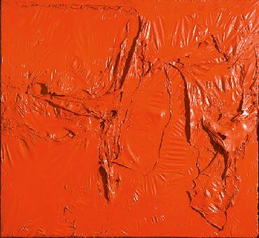 ALBERTO BURRI Rosso plastica, 1961